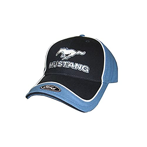 Hot Shirts - Men's Mustang With Ford Hat - Black/Blue : GT GT350 GT500  Cobra Boss 302 429 Shelby Roush