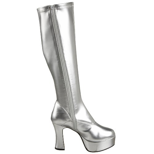 Pleaser Exotica-2000 - Botas Mujer Plateado ((Silver))