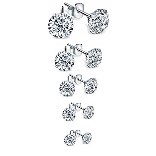 zealmer-5-pair-925-sterling-silver-swarovski-elements-zirconia-cz-birthstone-stud-earrings