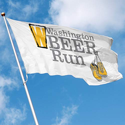 (Washington Beer Run Garden Flag 35' Home Banner,Flags for Holiday Party Indoor/Outdoor Yard)
