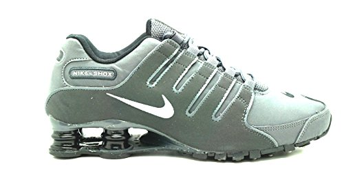 Nike Mens Shox NZ Running Shoe (11, Dark Grey/Metallic Irn Or/Anthracite/Bl)