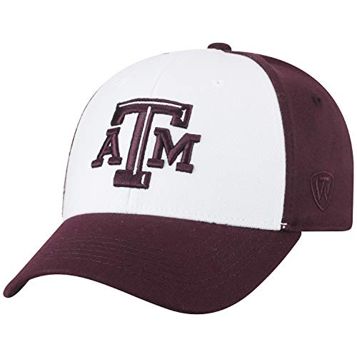 Top of the World NCAA-Premium Collection Two Tone-One-Fit-Memory Fit-Hat Cap- Texas A&M Aggies ()