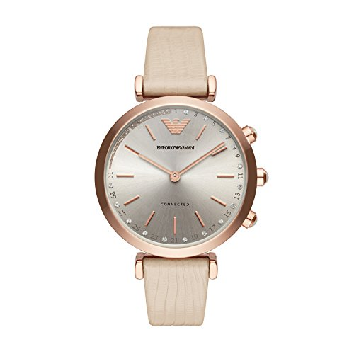 Analog Hybrid (Emporio Armani Womens ART3020 Hybrid Analog Display Quartz Beige Smart Watch)