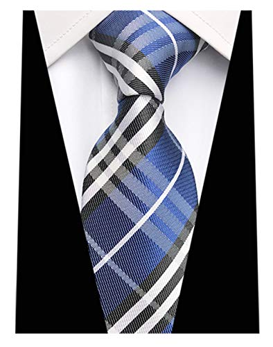 890d5fb8a6c7 MENDENG New Classic Plaids Check Baby Blue Jacquard Woven Silk Men's Tie  Necktie - Buy Online in UAE. | Apparel Products in the UAE - See Prices, ...