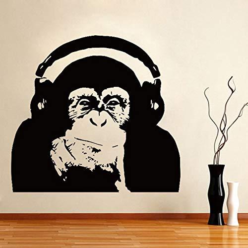jiushivr Pensando Gorila Tatuajes de Pared Diseño de Arte ...