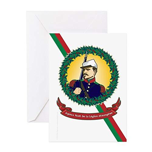 Legion Glossy Paper - CafePress Joyeux Noel De La Legion Greeting Card, Note Card, Birthday Card, Blank Inside Glossy