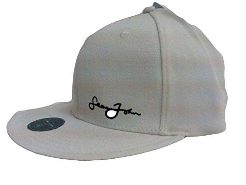 Sean John Men's Fitted Ball Cap Hat Cream L/XL