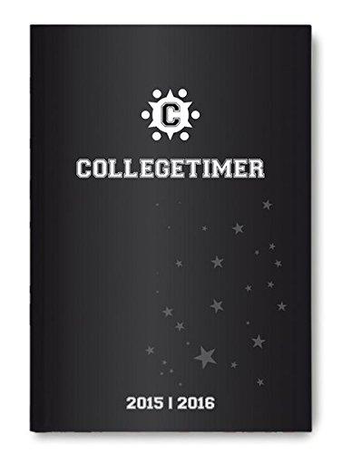 Collegetimer Black 2015/2016 - Schülerkalender A5 - Day By Day - 352 Seiten