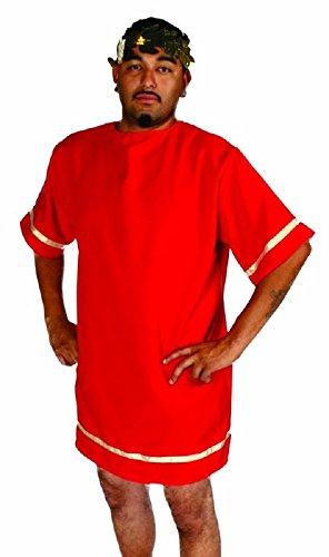 Alexanders Costumes Men's Roman Tunic, Red, -