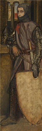 Oil Painting 'Henri Leys - Godfrey Of Bouillon,19th Century' Printing On High Quality Polyster Canvas , 10x31 Inch / 25x78 Cm ,the Best Bar Decor And Home Gallery Art And Gifts Is This Amazing Art Decorative Canvas Prints