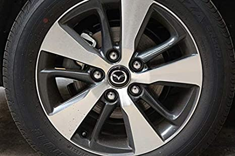 Bearfire 4 x 56.5mm Car Lettering BBS Wheel Center Cap Sticker Wheel Emblem Badge Logo Stickers Mazda