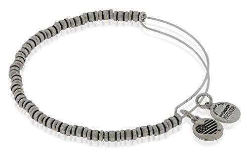 (Alex and Ani Women's Rocker Bangle Bracelet, Rafaelian Silver)