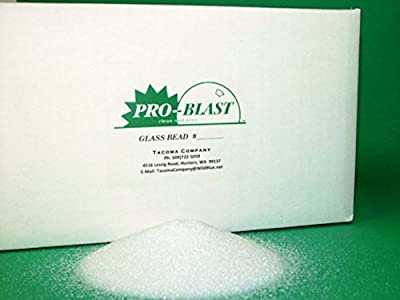 GLASS BEAD #7 - Medium Fine - 25 lbs. - Sand Blast Cabinet BLASTING MEDIA - By Tacoma Company