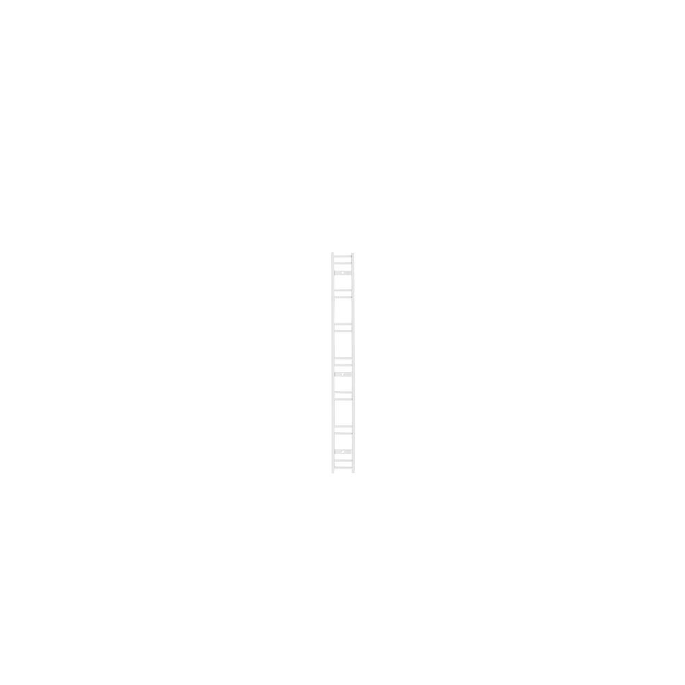 WallTech 19.5 X 2インチホワイトスチールショートレールブラケットforワイヤ棚   B07BB2XCPD