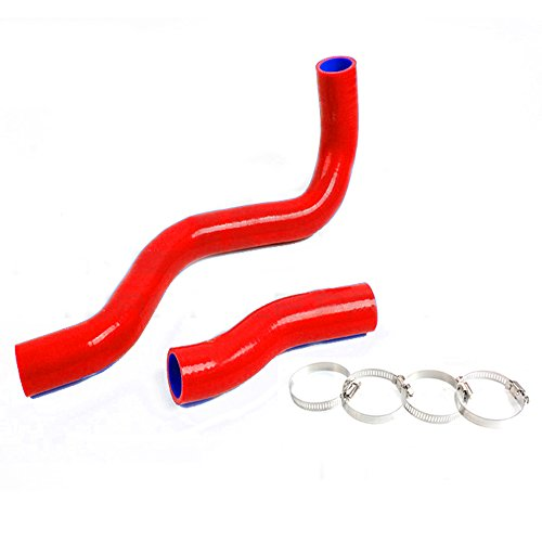 Silicone Radiator Coolant Hose Kit Clamps For TOYOTA LEXUS IS300 ALTEZZA JCE10 2JZGE 2000-2005 Red ()