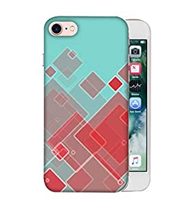 ColorKing Apple iPhone 8 Case Shell Cover - Blocks Multi Color