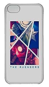 iPhone 5C Case The Avengers Retro Poster743 PC iPhone 5C Case Cover Transparent