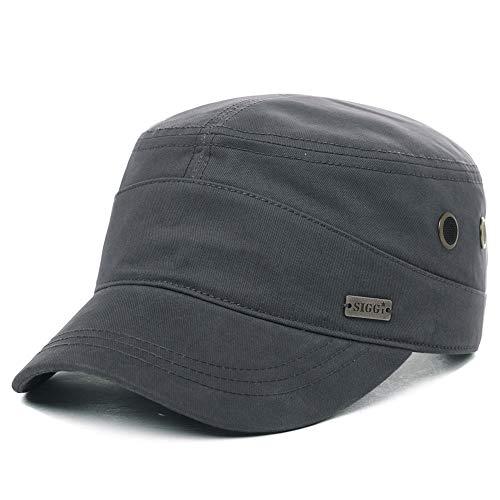 Mens Cotton Canvas Army Baseball Cap Military Size 8 Hat Women Large Head Cadet Jersey Gray XXL - Baseball Army Jersey