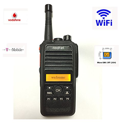 Bluetooth Gsm Radio (2 pcs Radtel HJ780 GSM WCDMA Sim Card Two Way Radio 2G 3G WI-FI with GPS Bluetooth Recording Compatible AT& T, NOT included SIM CARD )