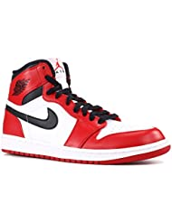 NIKE Mens Air Jordan 1 Retro High Chicago Leather Basketball Shoes