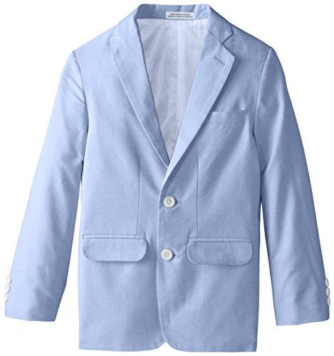 IZOD Big Boys' Chambray Blazer, Med Blue, 08 Regular - Chambray Coat