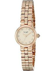 kate spade new york Womens 1YRU0921 Tiny Gramercy Rose Gold-Tone Bracelet Watch