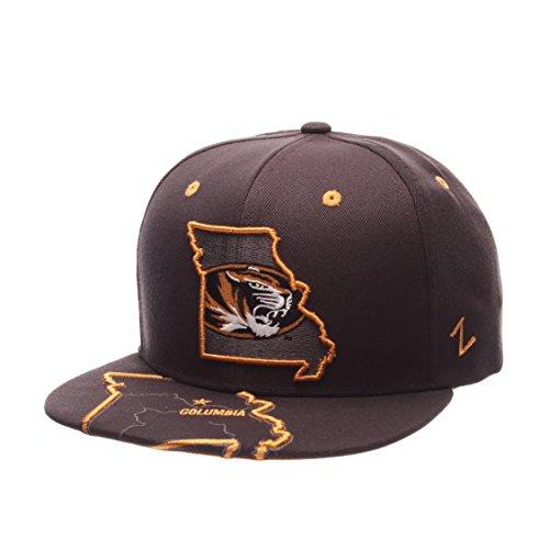 NCAA Missouri Tigers Men's Stateline Snapback Cap, Adjustable Size, Charcoal