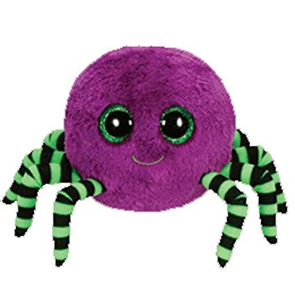 437382a5035 Image Unavailable. Image not available for. Color  Ty Beanie Boos Crawly -  Halloween Spider Purple
