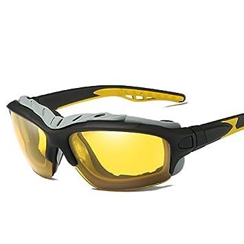TIANLIANG04 Gafas De Sol Polarizadas Gafas De Sol Negro Guía De Hombres Para Hombres Amarillo Lentes