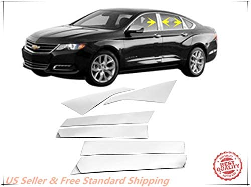 For 2014-2018 Chevrolet Impala Stainless Polished Pillar Posts Trims Chevy 15 16