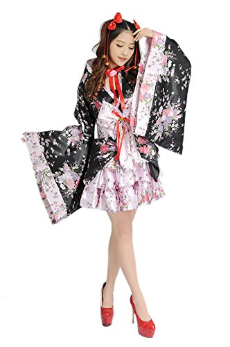 [hqclothingbox Cosplay Lolita Halloween Fancy Dress Japanese Kimono Costume] (Maleficent Toddler Costumes)