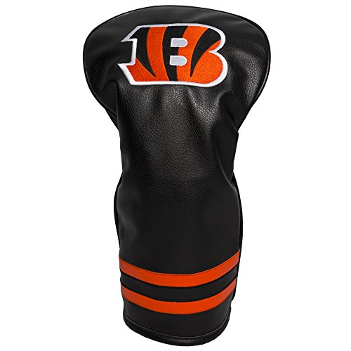Team Golf NFL Cincinnati Bengals Vintage Driver Golf Club Headcover, Form Fitting Design, Retro Design & Superb Embroidery Cincinnati Bengals Golf Headcover