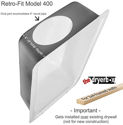 Dryerbox Retro-passen 400 Rb-400 | Existing Construction 2X4 Walls - Venting Up