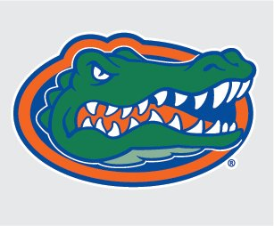 Florida Head (FLORIDA GATORS GATOR HEAD LOGO vinyl decal 4