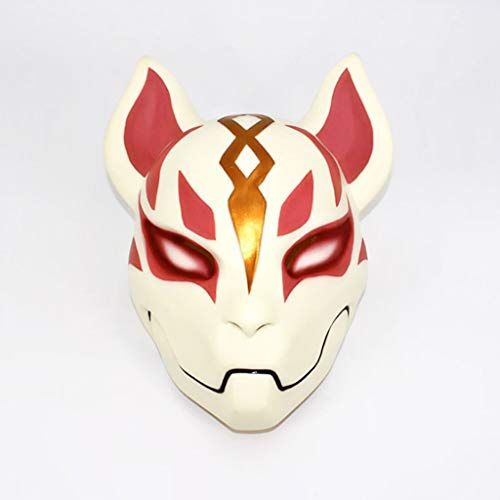 Halloween Fortress Sky Fox Mask, Horror Haunted House Bar Dance Coplay Resin Mask -