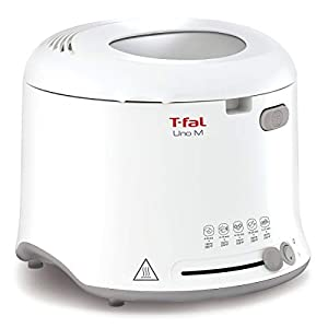 T-Fal FZ740850 Uno Compact Deep Fryer White, 1 kg Food Capacity, White, Small
