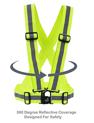 Active Arlo Reflective Vest for Running, Cycling, Jogging, Walking. Soft and Lightweight. Adjustable Fit for Men and Women.
