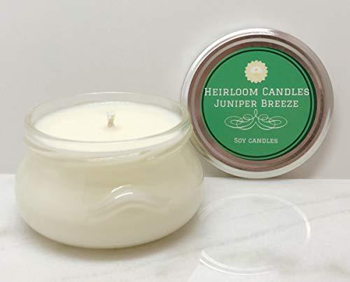 Juniper Breeze Soy Candle - Vegan - Handmade, 6oz