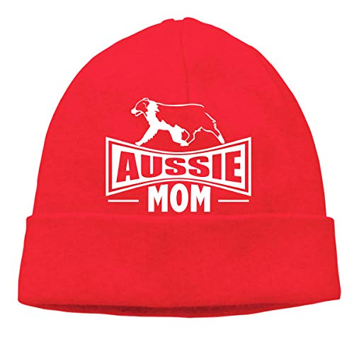 Adult Mens & Womens Unisex Aussie Mom Australian Shepherd Dog Fall Knitted Hat