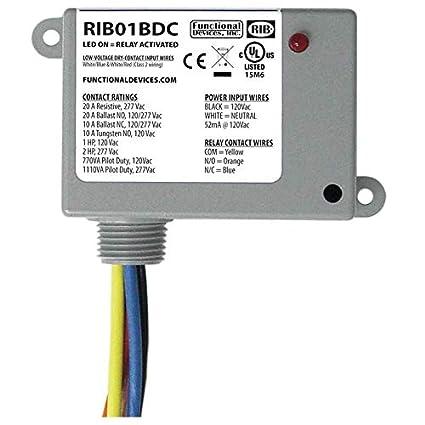 amazon com rib rib01bdc dry contact input relay, 20a, 120vac, spdtamazon com rib rib01bdc dry contact input relay, 20a, 120vac, spdt camera \u0026 photo