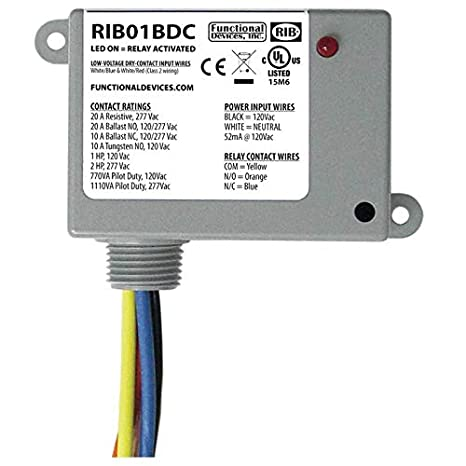 amazon com: rib rib01bdc dry contact input relay, 20a, 120vac, spdt: camera  & photo