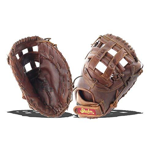 Mitt Baseball First Basemans (Shoeless Joe Gloves Fast Pitch Brown First Base Glove, Right Hand, 12 1/2-Inch)