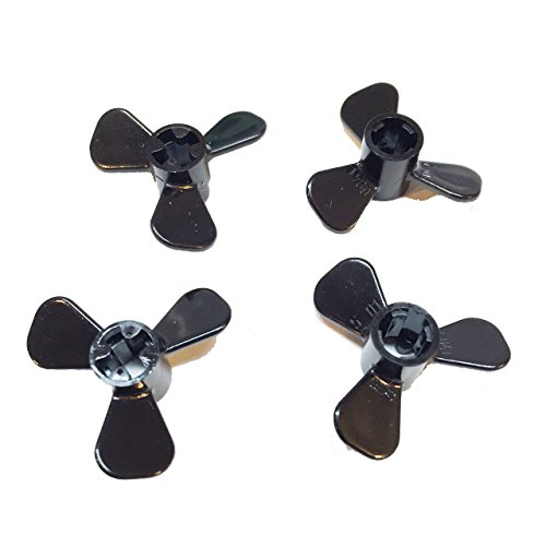 Lego Parts: Boat/Submersible Propeller 3 Blade - 3 Diameter (Service Pack of 4 - Black)