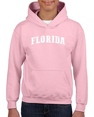 Ugo FL Florida Map Flag Miami Orlando Home of University of Florida UF Hoodie Girls and Boys Youth Kids Sweatshirt (Fleece Pullover Youth Miami)