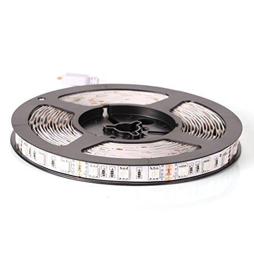 econoLED 12V Flexible SMD 5050 RGB LED Strip Lights, LED Tape, Multi-colors, 300 LEDs, Non-waterproof, Light Strips, Color Changing, Pack of 16.4ft/5m Strips US Seller