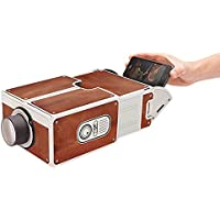 Dikley Smartphone Projector Home Theater Video Projector Portable Mini Movie Projector DIY Cardboard Mobile Phone Projector