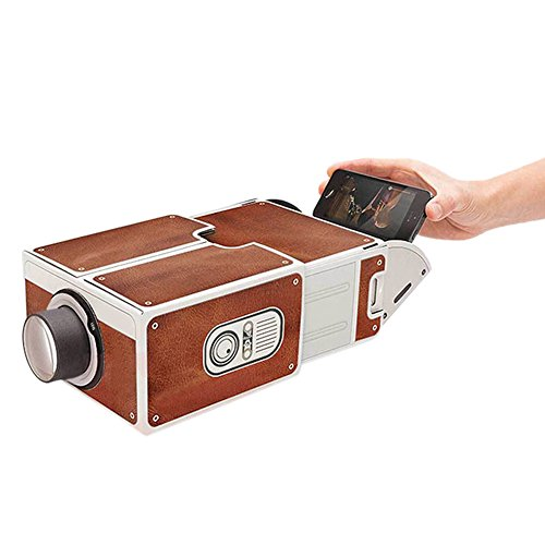 Dikley Smartphone Projector Home Theater Video Projector Portable Mini Movie Projector DIY Cardboard Mobile Phone Projector by Dikley