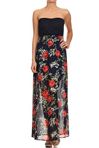 asos strapless floral dress - 1