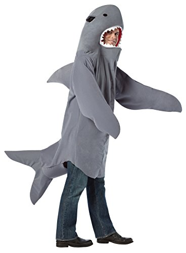 [UHC Comical Shark Outfit Funny Theme Party Fancy Dress Halloween Costume, OS (48-52)] (Plus Size Shark Costumes)