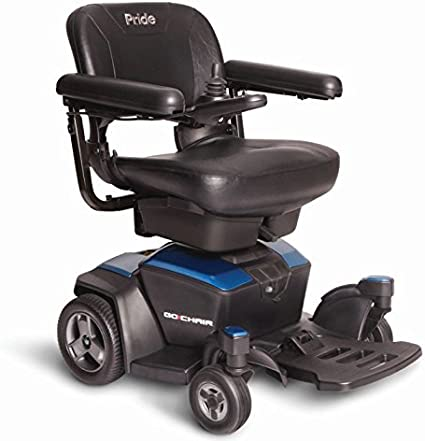 Amazon.com: Pride Go-Chair Travel Power Wheelchair, Blue: Health ...